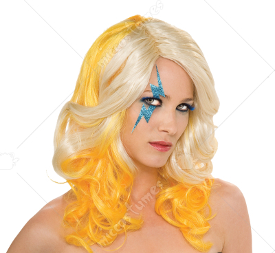Lady Gaga Blonde Yellow 2 Tone Wig
