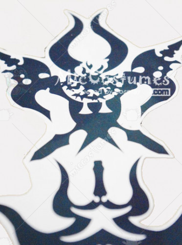 Lamento Konoe Angry Cosplay Tattoo Sticker