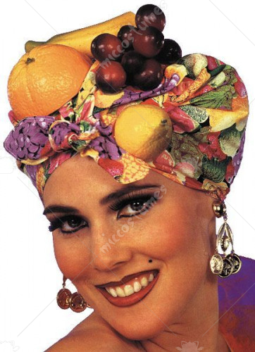 Latin Lady Fruit Headpiece
