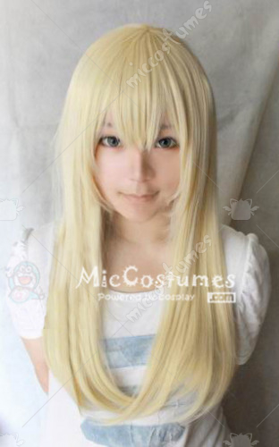 Light Gold Simple 60cm Cosplay Wig