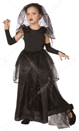Light Up Dark Bride Child Costume