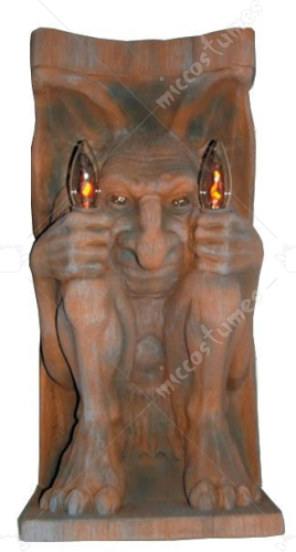 Lighted Gargoyle Wall Mount