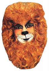 Lion face mask hair piece
