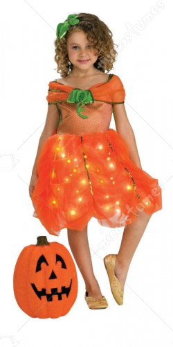 Lite Up Pumpkin Princess Toddler Costume