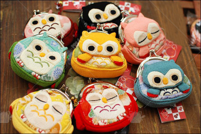 Lovely Japanese Style Owl Coin Purse