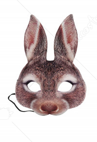 Easter Rabbit Half Face Mardi Gras EVA Bunny Face Covering Masquerade Party Accessories