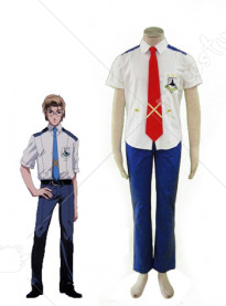 Macross Frontier Mikhail Blanc Cosplay Costume