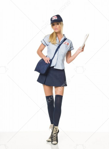 Mail Delivery Girl Sexy Adult Costume