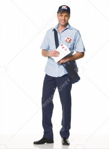 Mailman Mens Costume Extra Large Adult Costume