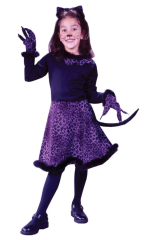 Marabou Kitty Child Purple Costume