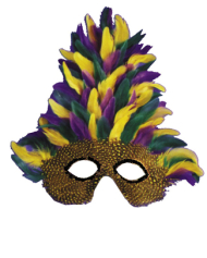 Mask Mardi Gras Tall Feather