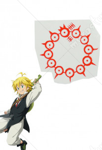 The Seven Deadly Sins Meliodas Cosplay Tattoo Sticker