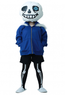 Big Head Skeleton Cosplay Costume One Size Fit All