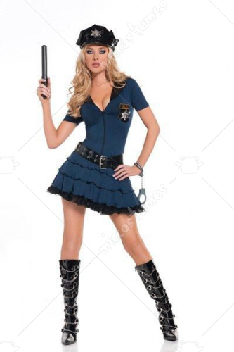 Midnight Patrol Police Adult Costume