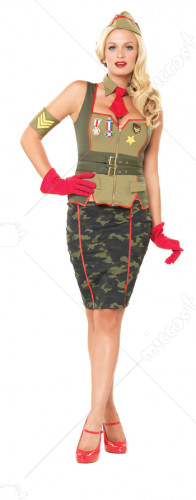 Military Pinup Adult Costume