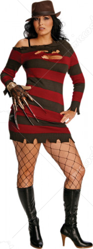 Friday The 13th-Miss Sexy Krueger Adult Plus Costume