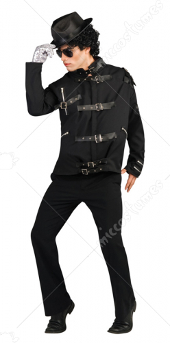 Michael Jackson Bad Black Buckle Deluxe Adult Costume