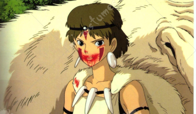 Mononoke Hime Cosplay Tattoo Sticker