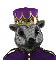 Mouse King Head With Purple Crown Adult Costume