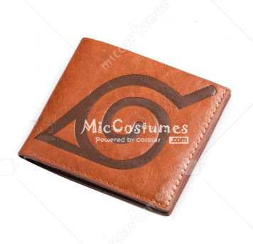 Naruto Konoha Bifold Wallet Brown