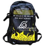 Naruto Konoha Black School Bag