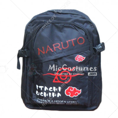 Naruto Konoha Criminal Ninja Red Print Backpack
