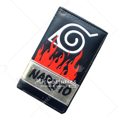 Naruto Konoha Long Wallet Black