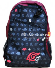 Naruto Konoha Nin Akatsuki Prints Red School Bag