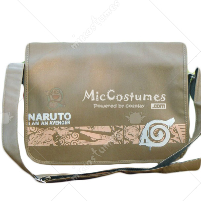 Naruto Konoha Print Flip Shoulder Bag