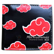 Naruto Red Clouds Akatsuki Bifold Wallet Black