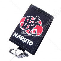 Naruto Red Clouds Akatsuki Trifold Long Wallet
