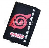 Naruto Trifold Long Canvas Wallet