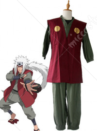 Naruto Army Green Jiraiya Cosplay Costume