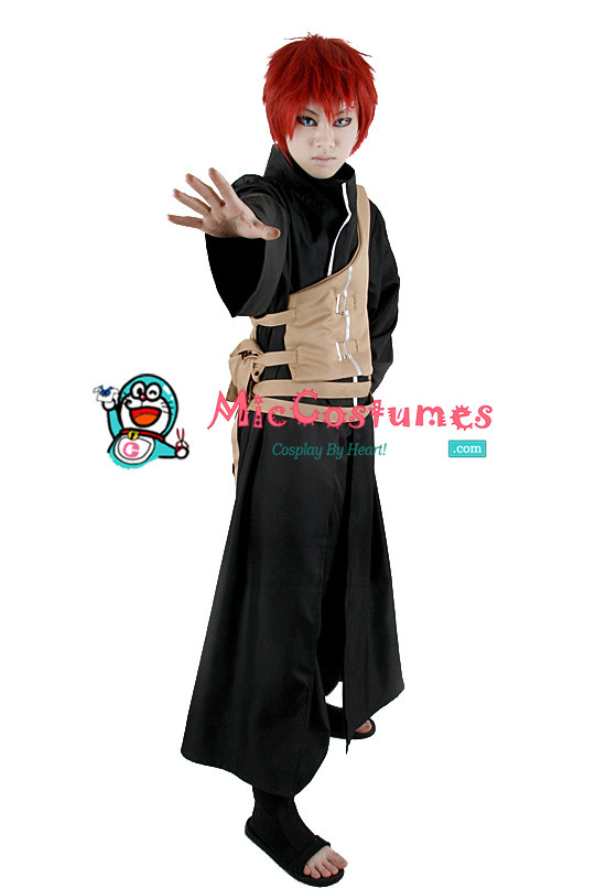 Naruto Gaara Black Cosplay Kostüme
