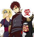 Naruto Gaara Cosplay Tattoo Sticker