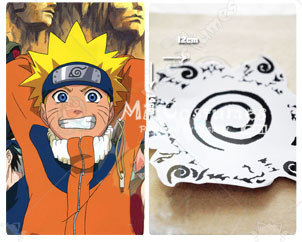 Naruto Uzumaki Cosplay Tattoo Sticker