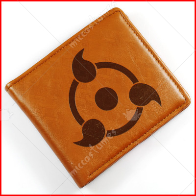 Naruto Bifold Leather Wallet Brown