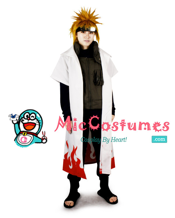 Naruto Yondaime 4th Hokage Minato Namikaze Cosplay Kostüme