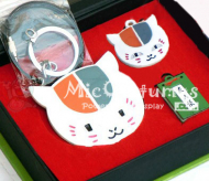 Natsumes Book of Friends Nyanko Sensei Badges Note Necklace