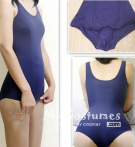 Navy Blue Japanese School Swimsuits Skirt Type