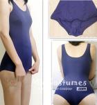 Navy Blue Japanese School Swimsuits Skirt Type