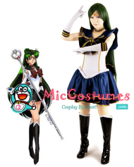New Version Sailor Moon Meiou Setsuna Sailor Pluto Cosplay Costume