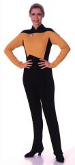 Star Trek Next Generation Jumpsuit Gold Adult Costume
