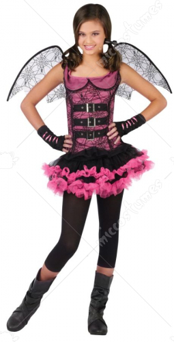 Night Wing Spider Pink Child Costume