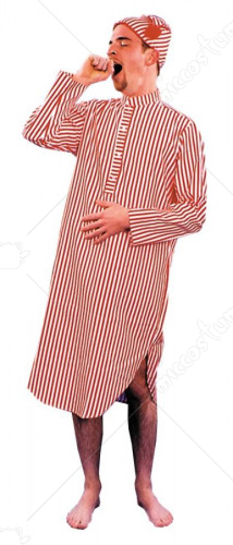 Nightshirt And Cap Mens Adult Costume