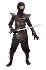 Ninja Fighter Leather Child Costume