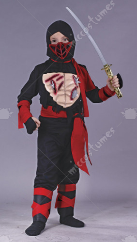 Ninja W Vinyl Chest Child Costume