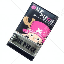 One Piece Chopper Bifold Long Wallet Black