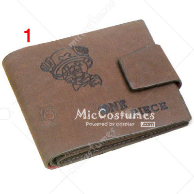 One Piece Chopper Bifold Wallet Grey