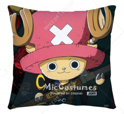 One Piece Chopper Black Pillow